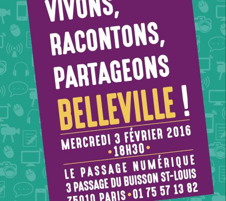 Vivons, racontons, partageons Belleville !
